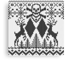 Double Black Diamond Crossbones Extreme Ugly Xmas Canvas Print
