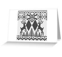 Double Black Diamond Crossbones Extreme Ugly Xmas Greeting Card