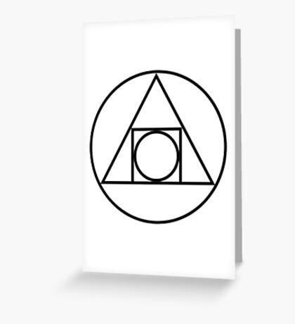 Philosophers Stone Alchemical Symbol Greeting Card