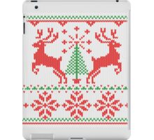 Holidays White Knit Ugly Christmas Sweater Ho Deer iPad Case/Skin