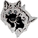 Two White Wolfs  by Walter Colvin