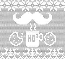 Santa's Stache Over Midnight Snack Knit Style by Garaga