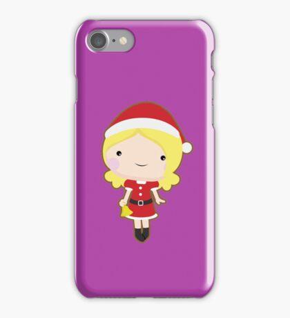 Christmas girl iPhone Case/Skin