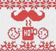 Santa's Stache Over Red Midnight Snack Knit Style by Garaga
