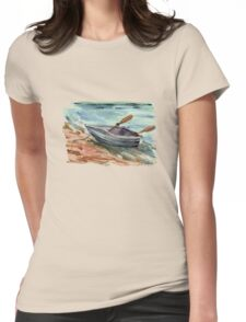 the lonely bark on shore Womens Fitted T-Shirt