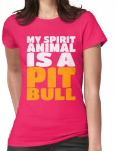 My Spirit Is A Animal A Pit Bull - Dog Puppy Womens Fitted T-Shirt