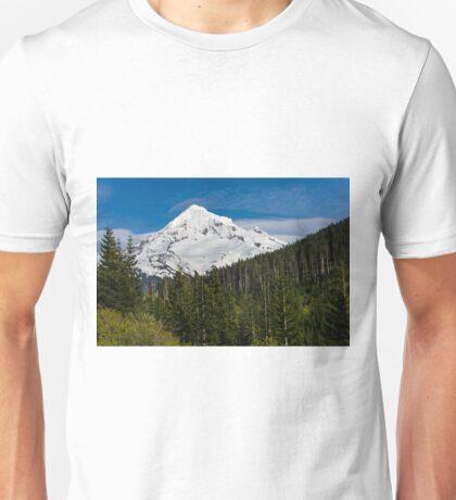 Snow covered Mount Hood Unisex T-Shirt