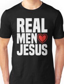 Real Men Love Jesus - Religious Christian Heart  Unisex T-Shirt