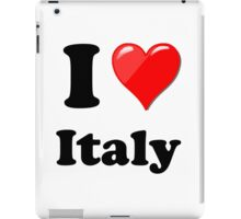 I Love Italy iPad Case/Skin