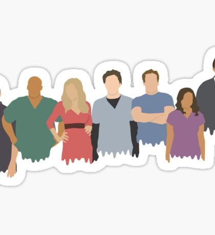 Scrubs Cast Sticker