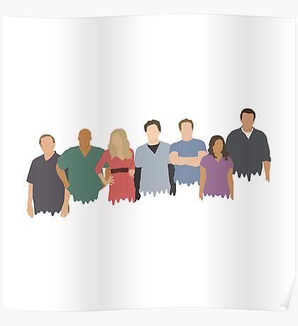 Scrubs Cast Poster