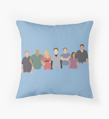Scrubs Cast Throw Pillow