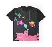 Kitty Mobile Graphic T-Shirt