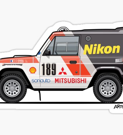 Three Diamond Pajero Turbo 1985 Rally Paris Dakar Winner Sticker