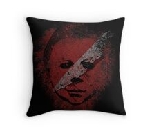 Michael Myers - in the blood Throw Pillow