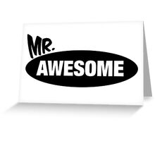 Mr. Awesome & Mrs. Awesome Couples Design Greeting Card