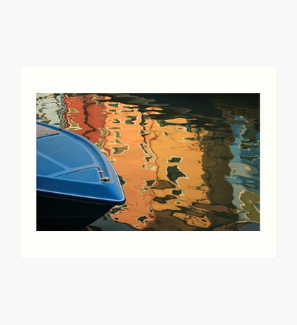 BLUE IN BURANO  II Art Print