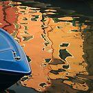 BLUE IN BURANO  II by June Ferrol