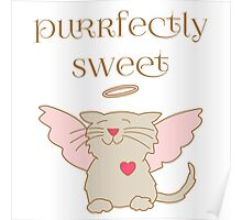 Purrfectly Sweet Angel Cat Poster