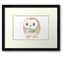 Minimalist Rowlet in Watercolour Framed Print