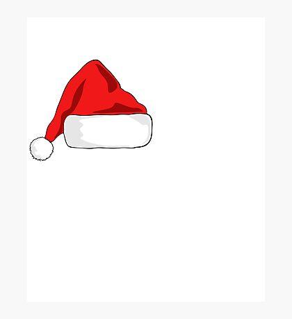 HO HO HO Santa hat  Photographic Print