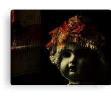 doll room crime scene 2 Canvas Print