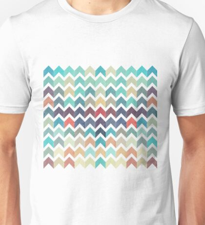 Watercolor Chevron Pattern Unisex T-Shirt