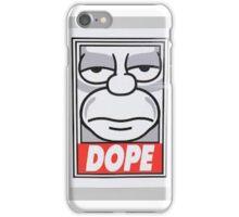 homer is dope iPhone Case/Skin