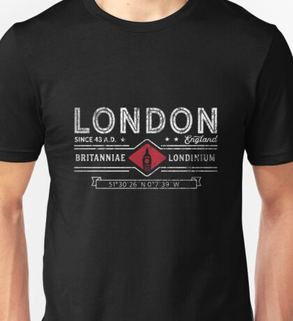 Retro London City Logo Typographic Unisex T-Shirt