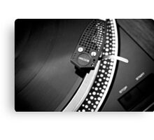 Old school record player Canvas Print