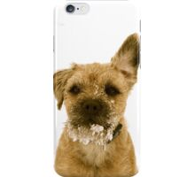 border terrier in the snow iPhone Case/Skin