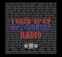 I Grew Up On 00's Country Radio (black tote bag) by For The Country Record