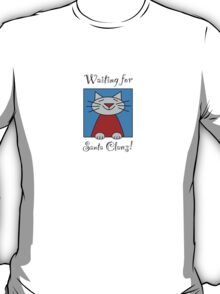 Cat Waiting for Santa Claws T-Shirt