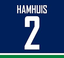 Vancouver Canucks Dan Hamhuis Jersey Back Phone Case by Russ Jericho