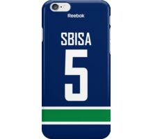 Vancouver Canucks Luca Sbisa Jersey Back Phone Case iPhone Case/Skin