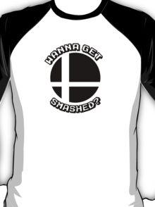 Wanna Get Smashed? (Smash Bros.)  T-Shirt