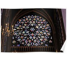 Sainte-Chapelle Rose Poster