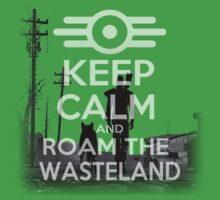 keep calm and roam the wasteland design (fallout)  T-Shirt