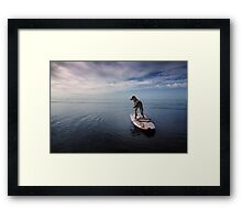 Owning the day Framed Print