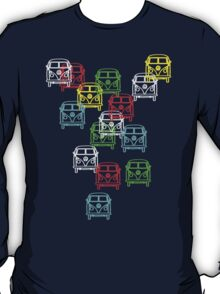 Multi Colour Campervan T-Shirt