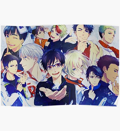 All Cast Yuri on Ice Poster