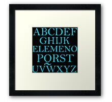 ALPHABET SONG Framed Print