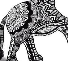 Ellie the Elephant Zentrangle Design by Ettie Tilley