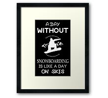 A Day without Snowboarding Framed Print