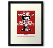 Doctor Who clever potato (poster) Framed Print
