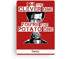 Doctor Who clever potato (poster) Canvas Print