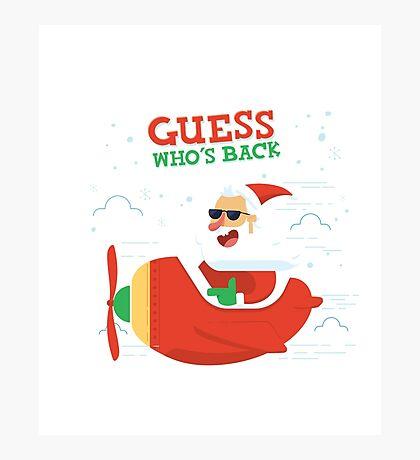 Merry Chrismas Oldman Ugly Sweater Xmas  Photographic Print