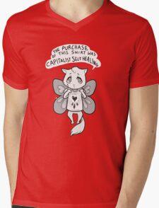 capitalist self healing cat Mens V-Neck T-Shirt