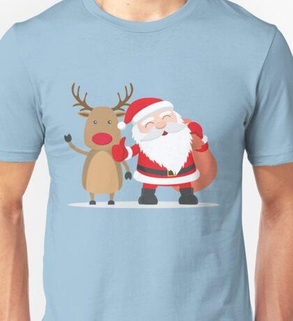 Merry Chrismas Oldman Reindeer Ugly Sweater Xmas  Unisex T-Shirt