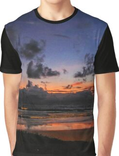Beach Sunset - Painted Effect Graphic T-Shirt